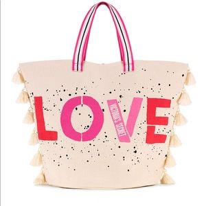 Victoria Secret LOVE Canvas Tote Bag